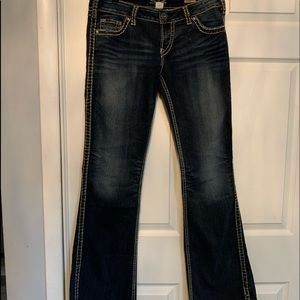 Woman's Silver Bootcut Jeans